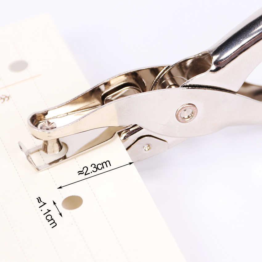 1 PC Metal Furador Único Mão Furador De Papel Scrapbooking Socos Único Furo Pode-se Fazer 8 Páginas Todo o Metal materiais