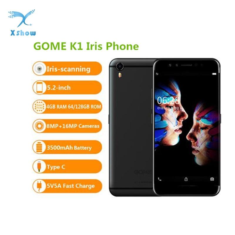 "Gome k1 4 gb ram celular helio p20 mtk6757 2.3 ghz octa núcleo 5.2 ""tela fhd android 6.0 toque id 4g lte"
