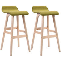 Giantex Set Of 2 29 Inch Vintage Wood Bar Stool Modern Home Dining Chair Counter Height