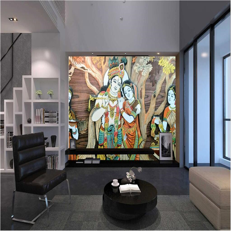 beibehang Custom wall mural wallpaper in any size India Brahman ...