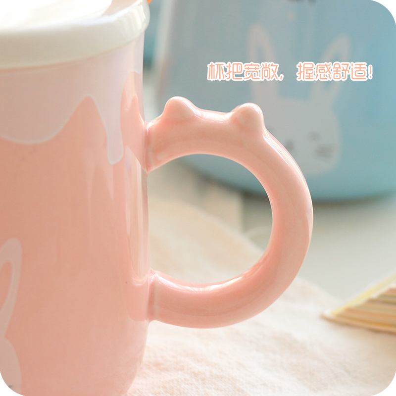 office coffee cups. Fine Office Cute Cartoon Rabbit Ceramic Cup With Spoon Cover Office Coffee Cups In  Mugs From Home U0026 Garden On Aliexpresscom  Alibaba Group Inside Office Coffee Cups