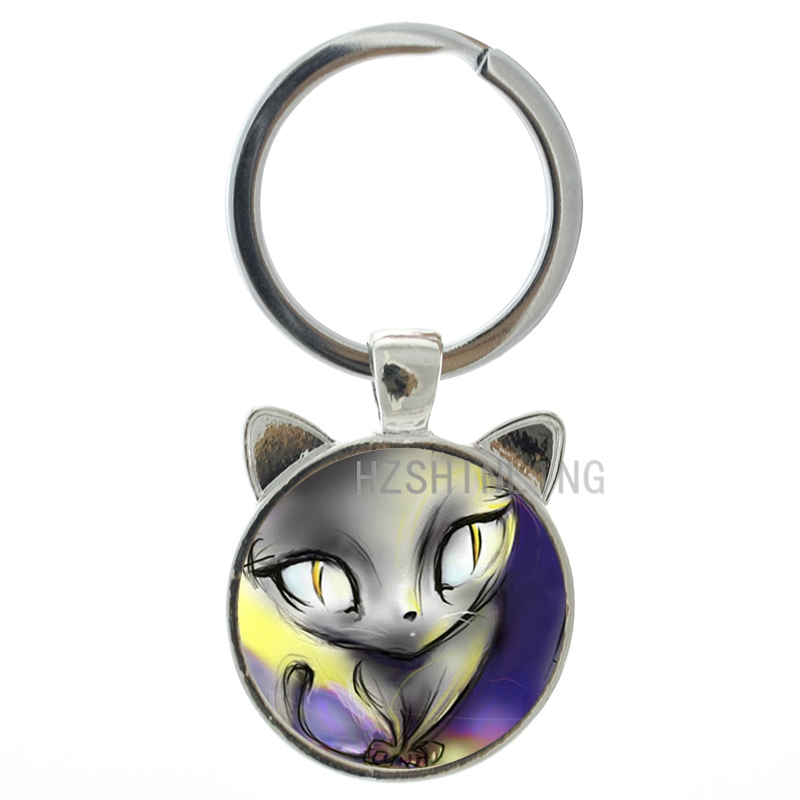 2016 Fashion lovely cartoon style rey keychain steampunk doraemon animal pendant key chain ring women friends gifts CN220