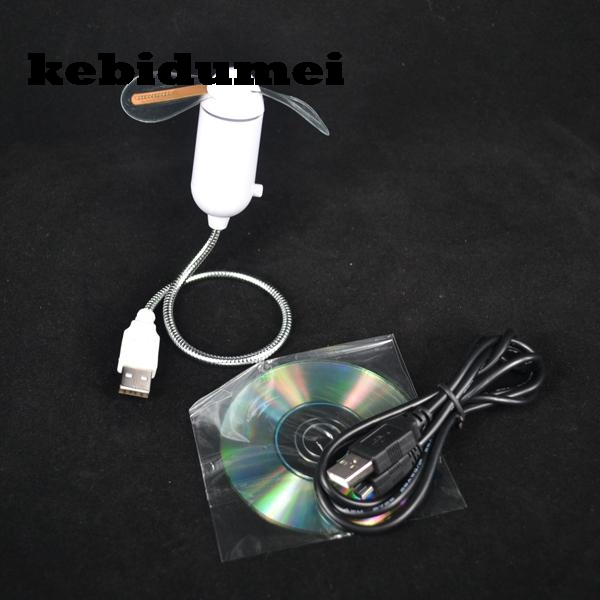 kebidumei Mini DIY Usb Fan Flexible LED USB Gadgets Red ...