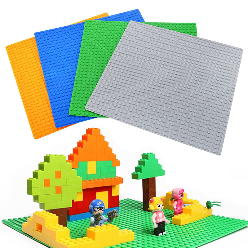 Toys Brinquedos  Large  Base Plate Technic 32*32 Dots Compatible Building Series DIY Baseplate 4 Colors Kid 32 32 dots plastic bricks the island straight crossroad curve green meadow road plate building blocks parts bricks toys diy