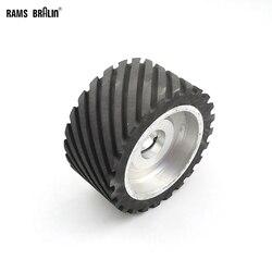 150*75mm roue de Contact en caoutchouc dentelé dynamiquement équilibré ponceuse à bande polisseuse roue ponçage ceinture ensemble