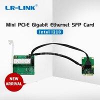 LREC2204PF SFP mini pci e lan card intel I210 1000Mbps fiber optical ethernet network adapter