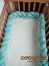 120cm Baby Braided Crib Bumpers Knot Pillow Cushion,Nursery bedding,cot room dector
