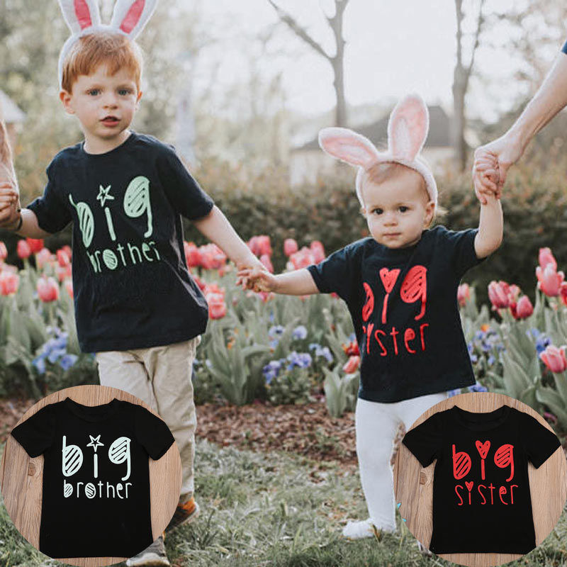 Kids T-Shirt Tops Short-Sleeve Toddler Girls Baby-Boys Letter Summer Casual 0-5Y Blusa