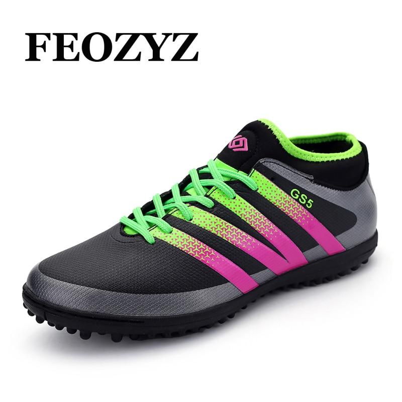 FEOZYZ New Boys Kids Men Soccer Cleats High Ankle Turf Football Boots Shoes Zapatos De Futbol Con Tobilleras Chuteira Futebol