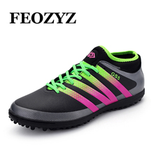 FEOZYZ New Boys Kids Men Soccer Cleats High Ankle Turf Football Boots Shoes Zapatos De Futbol Con Tobilleras Chuteira Futebol