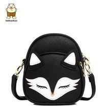 Beibaobao Cartoon Fox Fashion Design Women Messenger Bags Female Tote Women Bag Bolsa Lovely Cross-body Bags Leather Clutch B096