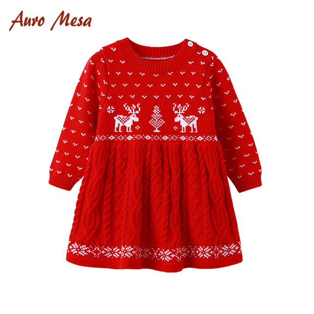 946226ede Christmas dress New Baby Girls Winter Dress vestido infantil baby ...