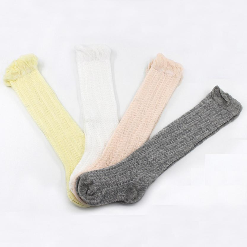 Cute Baby Toddler Girl Solid Socks Knee High Hosiery In Tube Socks F804