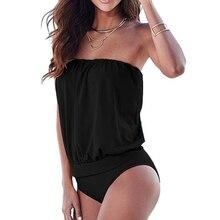 Premium One Piece Suits Sexy Women One piece Strapless Bandage Swimwear Swimsuit Bodysuit Bikini BeachWear For