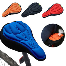 Bicycle Saddle 3D Soft Bike Seat Cover Cycling Silicone Seat Cushion Cycling Saddle for Bicycle Bike Accessories Dropshipping цена