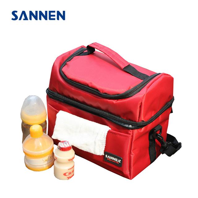 SANNEN 8L Portátil Necessidade Térmica Isolados Almoço Sacos Sacos de Armazenamento de Leite Alimentos Caixa de Almoço Mais Frio Bolsa Sólida bolsa comida