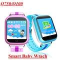 Caliente Q100 (Q750) gps smart watch pk q90 q50 bebé reloj de pantalla táctil wifi gps ubicación sos llamada devicetracker niños acecha