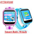 Hot Q100 (Q750) GPS Smart Watch PK Q90 Q50 Baby Watch Touch Screen GPS Wifi Location SOS Call DeviceTracker kids Watchs