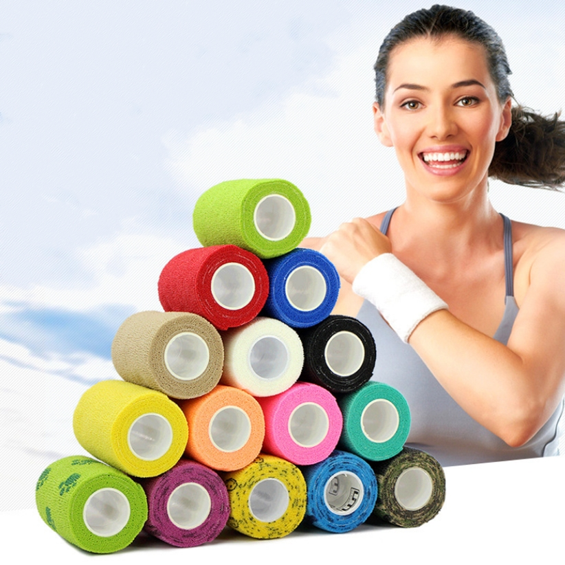 4.6M Sport Tape Waterproof Self Adhesive Elastic Bandage Muscle Tape Finger Joints Wrap Bandage Nonwoven Cohesive Bandage 4.6M Sport Tape Waterproof Self Adhesive Elastic Bandage Muscle Tape Finger Joints Wrap Bandage Nonwoven Cohesive Bandage
