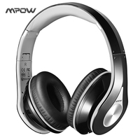 Mpow On Ear Headphones Bluetooth Headphones With Noise Cancelling Stereo Foldable Headband Ergonomic Designed Soft Earmuffs