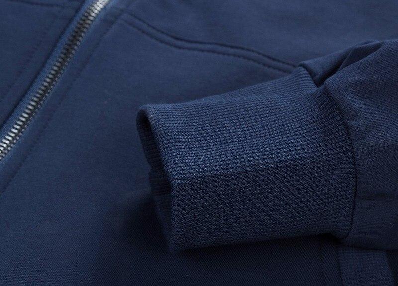 2019 модные толстовки с капюшоном Для мужчин Толстовка Топ пуловер Блузка Hombre хип хоп Для мужчин s Черный Толстовка с капюшоном на молнии Slim Fit ... - 5