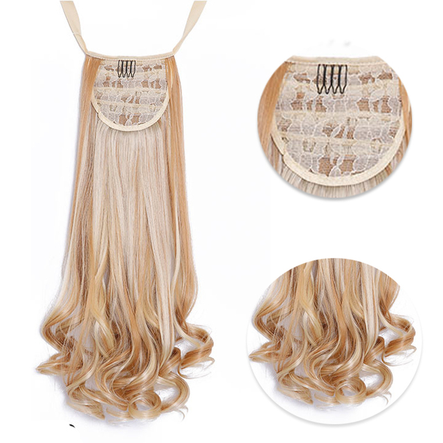 """18-26"""" Wavy Synthetic Clip-in Ponytail"""