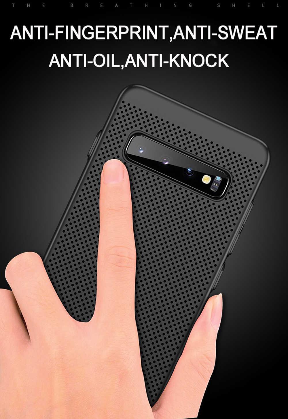 Ультра тонкий полый чехол для телефона Samsung Galaxy S8 S9 S10 Plus чехол для Galaxy Note8 Note9 Чехлы Capa