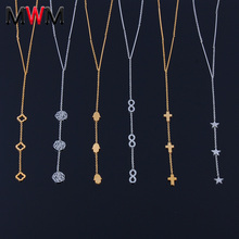 stainless steel chain pendant necklaces women collar infinity cross heart jewelry gold neckless long necklace women silver luxury 316l stainless steel necklace fashion cross heart chain pendant jewelry accessories friendship necklace
