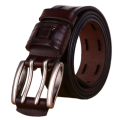 100% Cowhide Genuine Leather Belts for Men Brand Strap Male Pin Buckle Fancy Vintage Jeans Cowboy Cintos