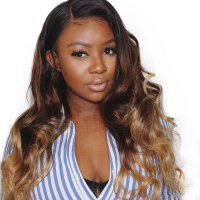 Ombre Human Hair Wig Body Wave 250 Density Lace Front Human Hair Wigs 613 Honey Blonde 4x4 Lace Closure Wig Colored 1B/4/27 Remy