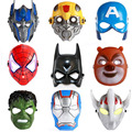 Luminous LED Mask Cosplay Cartoon Mask Toy Spider Man Batman Pacifier Captain America Mask The Hulk Plastic Mask Children Kids