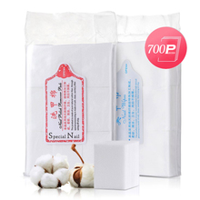 Nail Towel 700 pieces/bag Cotton Pads Gel Polish Remover Manicure Lint-Free Wipes Cleaning NBS