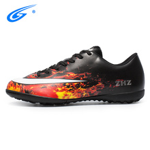 ZHENZU Professional Trainers Soccer Shoes Breathable Brand Original Sneakers Men TF Outdoor Futsal Cleats Adults Football Boots
