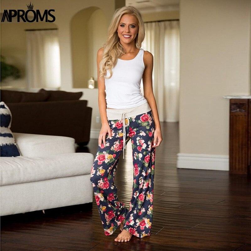 Aproms Yellow Color Blocked Wide Leg Pants Women Summer 2019 Streetwear High Waist Pants Elastic Casual