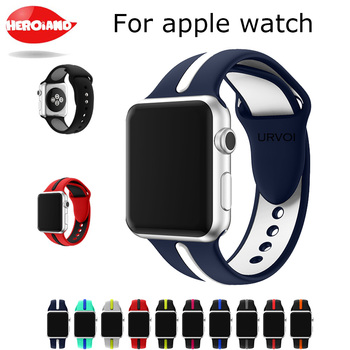 Sport Band For Apple Watch Series 1 2 3 M L Strap For Watch Soft Silicone Ultraman Replacement Band With Pin-and-tuck Closure soft silicone sport band for apple watch series 2 replacement strap for apple iwatch two colors sport band joyozyluxury bands