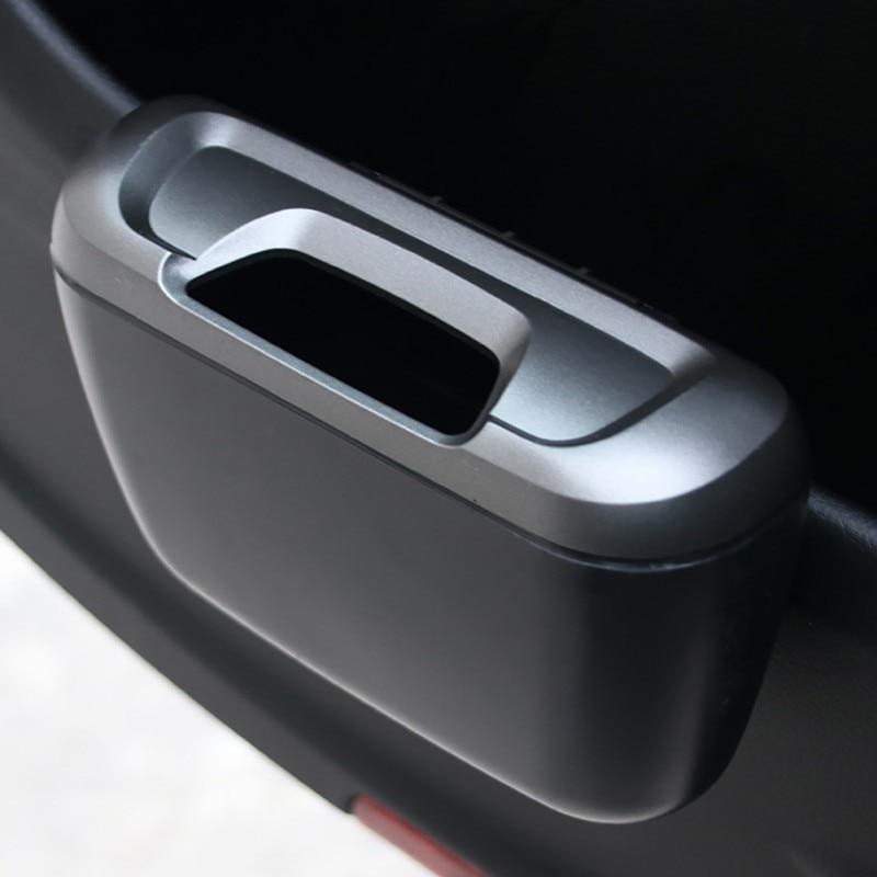 Cubo de basura de coche puerta cubo basura colgar basura portátil polvo caja de almacenamiento de coche 9449