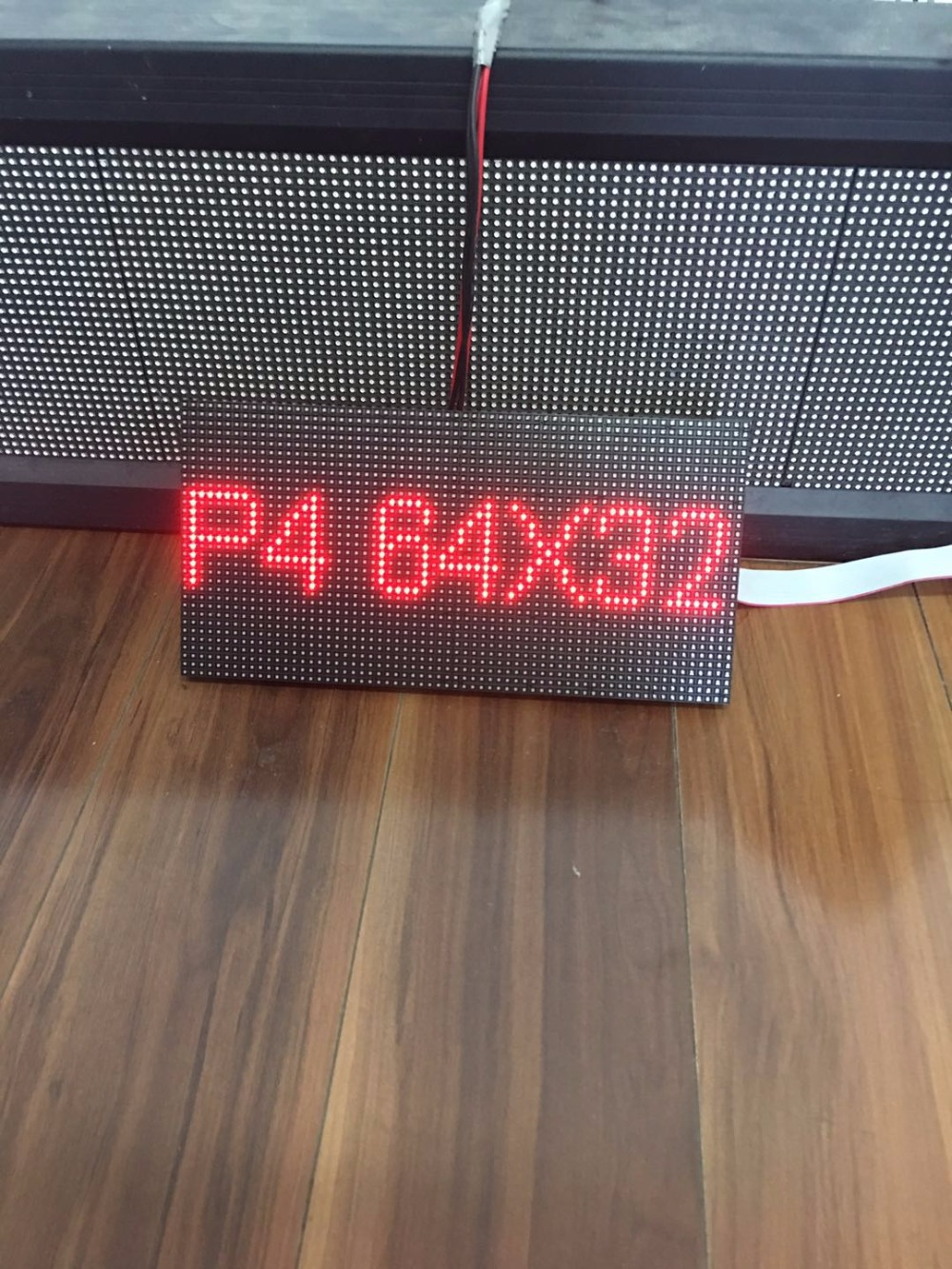 Купить с кэшбэком Free Shipping kaler 256*128mm 64*32 pixel 1/16 Scan Indoor full color 3in1 SMD RGB full color P4 led display screen module panel