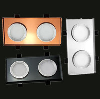 2pcs Crystal Lamp Super Bright Recessed Square LED Dimmable Downlight 2x5w 10w LED Spot Light LED