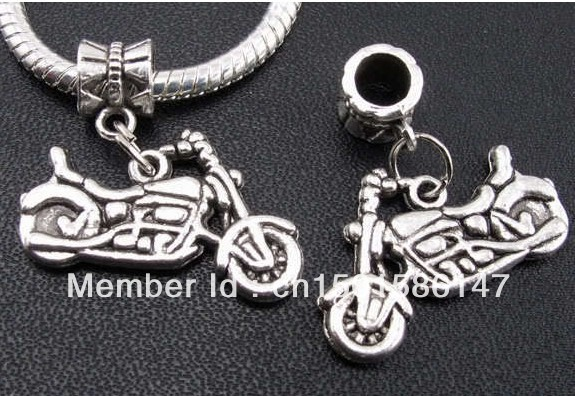 Vintage Tibetan Silver Motorcycle Dangle Charms Pendants For Jewelry Making Findings Bracelets  Accessories  Gifts  10pcs Z111