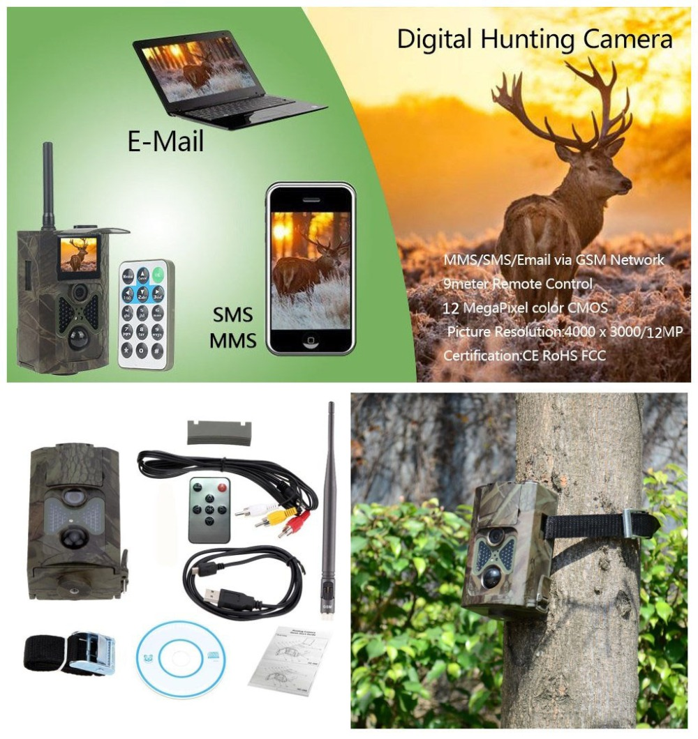 Hunting Camera HC500M HD SMS Control 48 Infrared Wildlife Game Camera Hunting Scouting 48pcs Infrared Trail Hunting Camera MMS босоножки ara ara ar222awqso23
