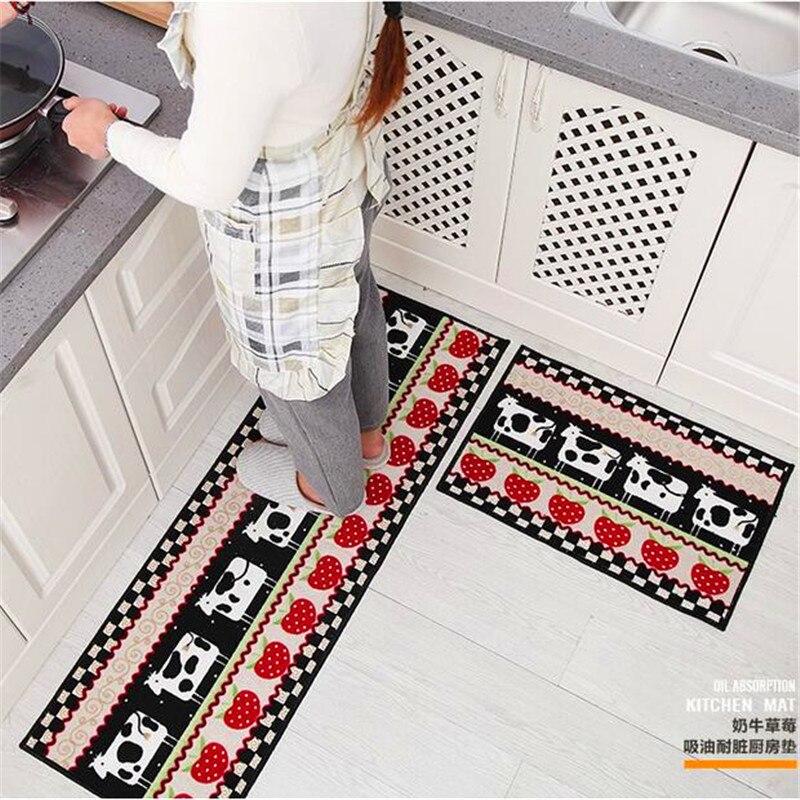 40x60 cm + 40x120 cm mode lavable à la Machine absorption d'huile anti-dérapant tapis/sol/salon/cuisine tapis tapis cuisine porte tapis