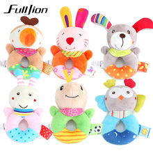Fulljion Baby Rattles Mobiles Toddler Toys Bebe Infant Bed Bells Stroller Cute Animal Dolls Musical Educational Toys Soft Mobile(China)
