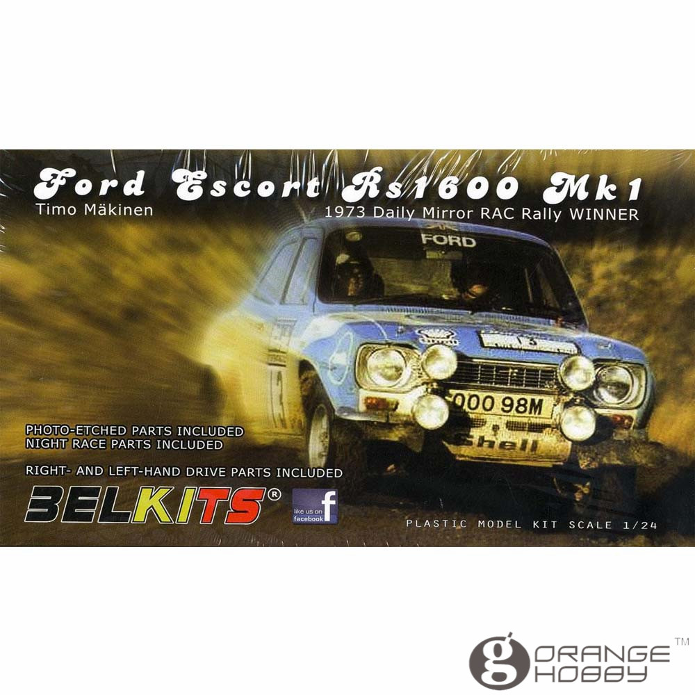 OHS Belkits BEL006 1/24 Escort RS1600 Mk1 1973 Scale Assembly Car Model Building Kits oh ford escort в спб