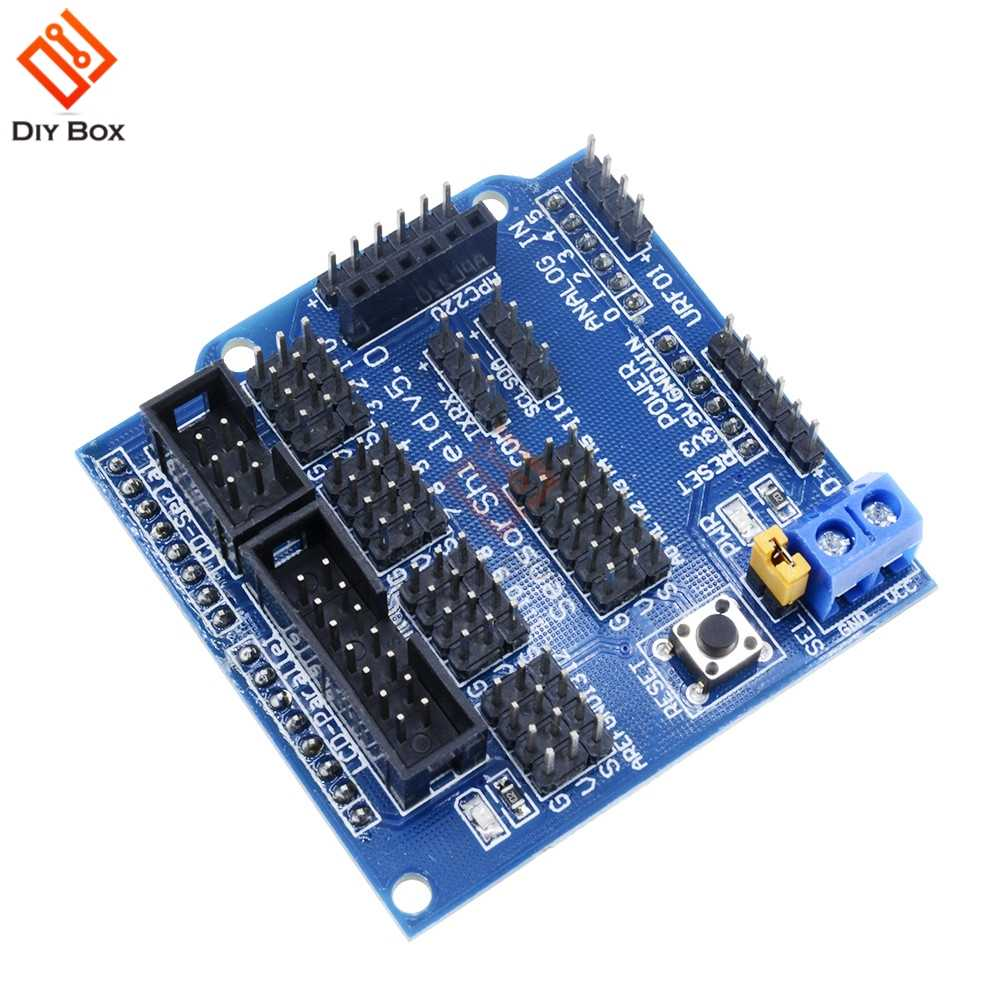 V5 0 Sensor Shield Expansion Board For Arduino Electronic Building Blocks  Robot Accessories Sensor Shield V5 Expansion Board