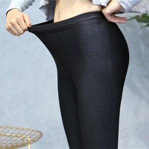 Image 3 - Chất Lượng cao Mùa Đông Ấm Phụ Nữ Xà Cạp Cộng Với Nhung Dày Rắn Màu Eo Cao Quần Legins Femme Cộng Với Kích Thước 5XL Giản Dị legging