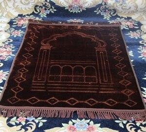 Image 4 - 80*125cm large soft flannel Prayer blanket MashaAllah Travelling Islamic Muslim Prayer Mat/ Rug/ Carpet Salat Musallah free ship
