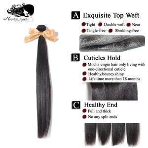 "Image 5 - MOCHA Hair STRAIGHT Hair 8 "" 26"" 10A บราซิล Virgin Hair สีธรรมชาติ 100% Unprocessed Human Hair EXTENSION จัดส่งฟรี"