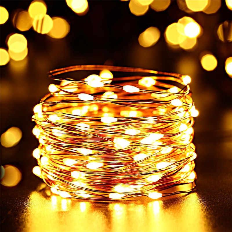 Светодиодный светильник на солнечной батарее для улицы, гирлянды, 100/200 светодиодный, s, сказочный, праздничный, для рождественской вечеринки, гирлянда, солнечный, для сада, водонепроницаемый, 10 м