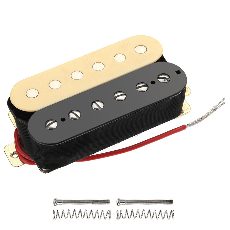2Pcs/Set Alnico Double Coil Electric Guitar Pickups Humbucker Neck Bridge Pickup For Guitarra Musical Instruments Parts electric guitar pickup humbucker for 6 string 6 pieces double coil pickups set neck bridge pickup humbucker double coil