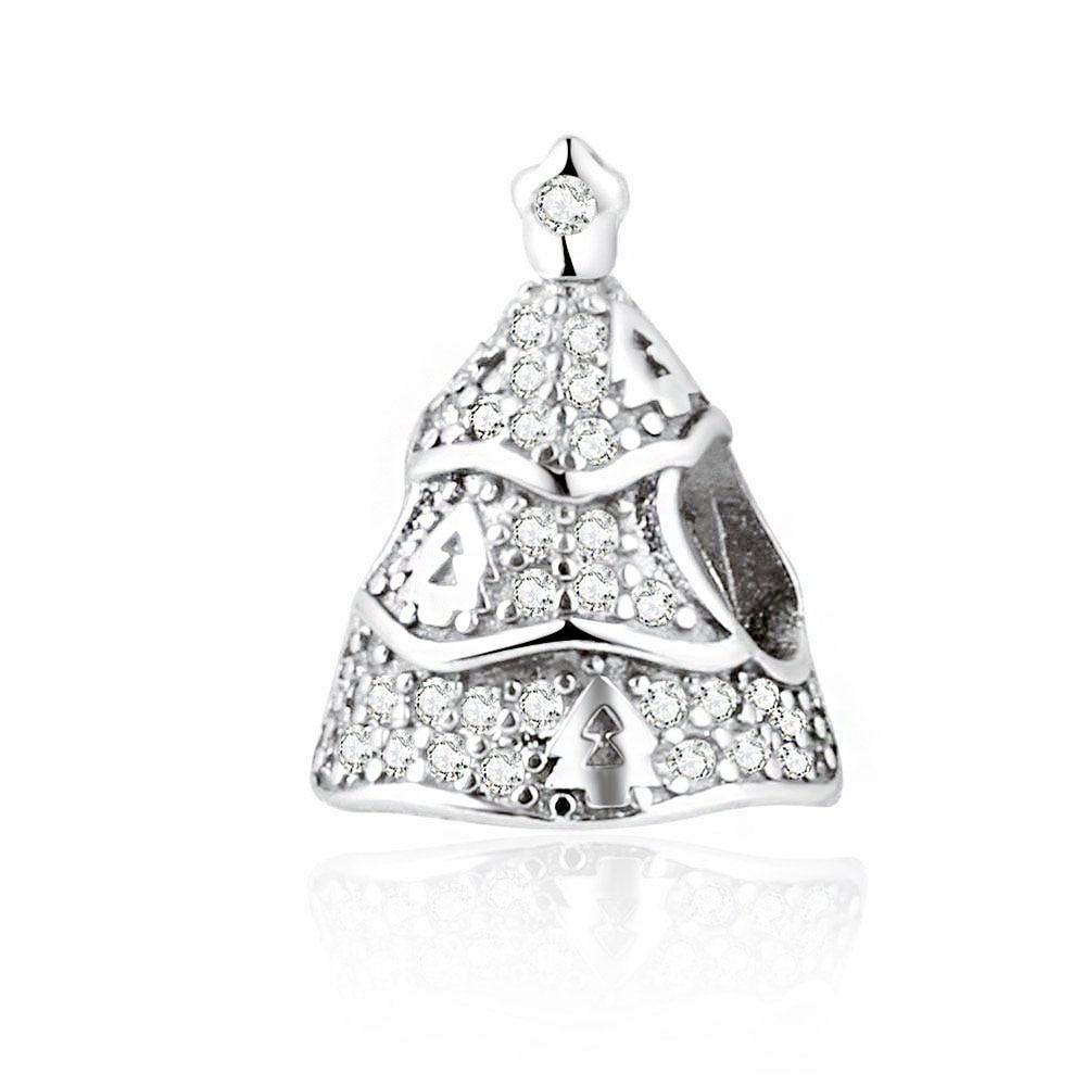 Pandora Clear Cz Tree Of Lights Charm Silver